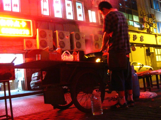 This man saw quite a lot of my drunken face, as he was stationed right outside my hostel in Shanghai. The guy was a gem - he knew my favourite skewers after one night.